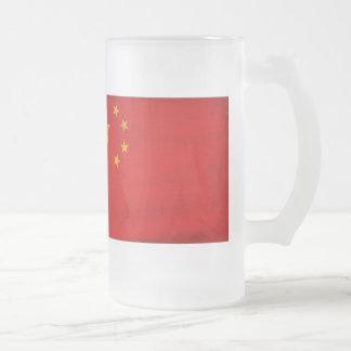 Bandera de China Taza Cristal Mate