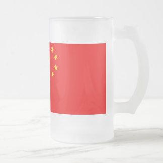 Bandera de China Taza De Cristal