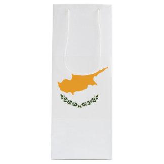Bandera de Chipre Bolsa Para Vino