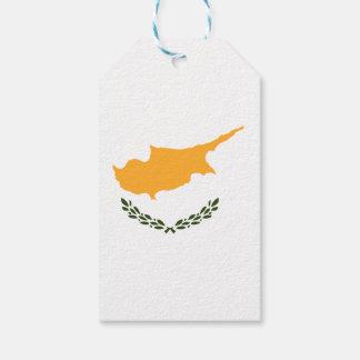Bandera de Chipre Etiquetas Para Regalos