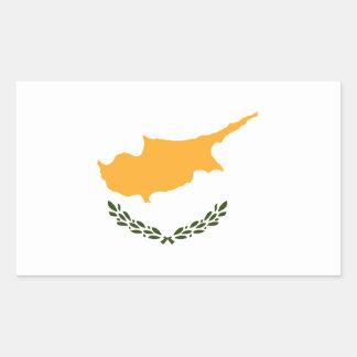 Bandera de Chipre Pegatina Rectangular