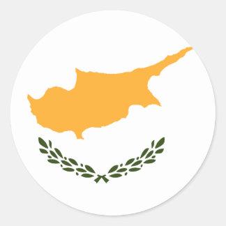 Bandera de Chipre Pegatina Redonda