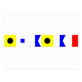 Bandera de código Isaías Tarjetas Postales