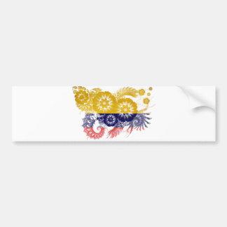 Bandera de Colombia Pegatina Para Coche