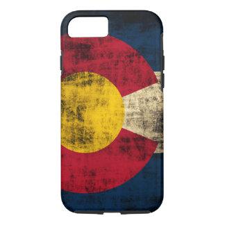 Bandera de Colorado del Grunge Funda iPhone 7