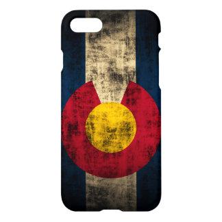 Bandera de Colorado del Grunge Funda Para iPhone 7
