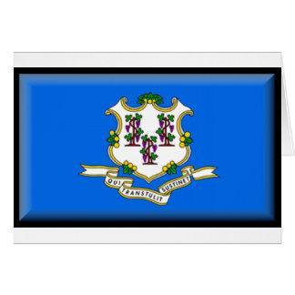 Bandera de Connecticut Tarjeta