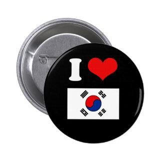 Bandera de Corea Chapa Redonda 5 Cm