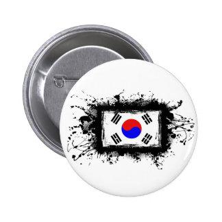 Bandera de Corea Chapa Redonda De 5 Cm