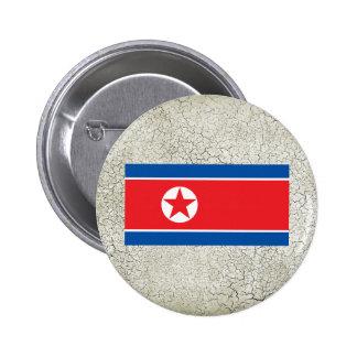 Bandera de Corea del Norte Chapa Redonda 5 Cm