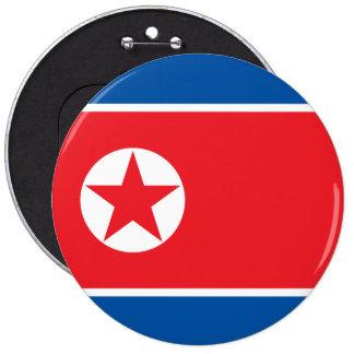 Bandera de Corea del Norte Chapa Redonda De 15 Cm
