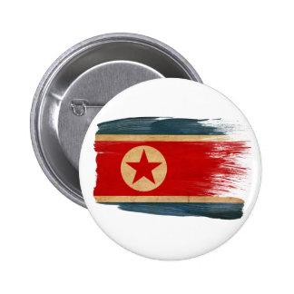 Bandera de Corea del Norte Chapa Redonda De 5 Cm