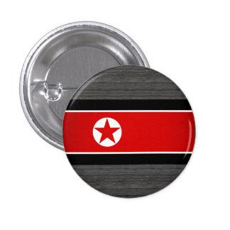 Bandera de Corea del Norte del monocromo Chapa Redonda De 2,5 Cm
