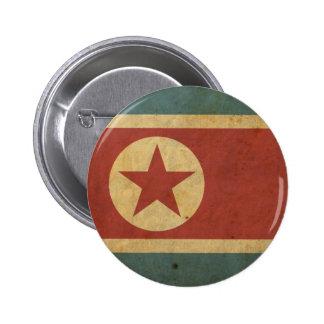 Bandera de Corea del Norte del vintage Chapa Redonda 5 Cm