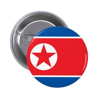Bandera de Corea del Norte en el Pin/la insignia Chapa Redonda De 5 Cm