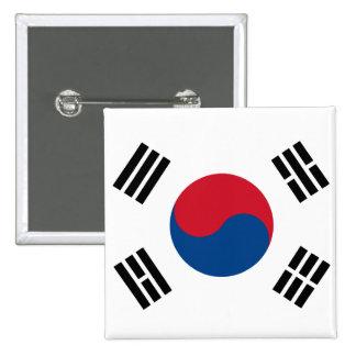Bandera de Corea del Sur Botón
