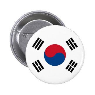 Bandera de Corea del Sur Chapa Redonda De 5 Cm