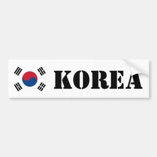 Bandera de Corea del Sur Etiqueta De Parachoque