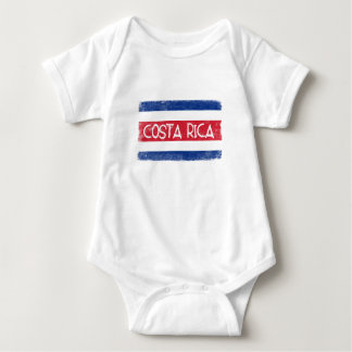 Bandera de Costa Rica Body Para Bebé