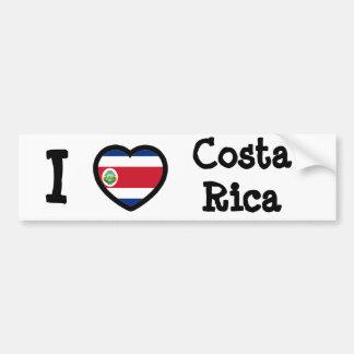 Bandera de Costa Rica Pegatina Para Coche