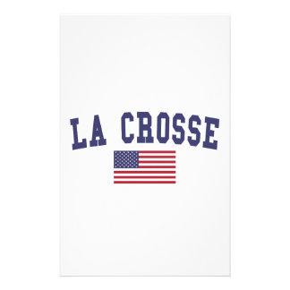 Bandera de Crosse los E.E.U.U. del La Papelería Personalizada