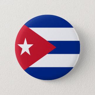 Bandera de Cuba Chapa Redonda De 5 Cm