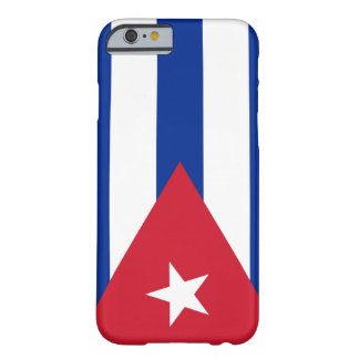Bandera de Cuba Funda De iPhone 6 Barely There