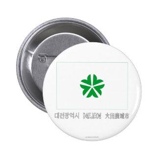 Bandera de Daejeon con nombre Chapa Redonda 5 Cm