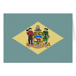 Bandera de Delaware Tarjeta