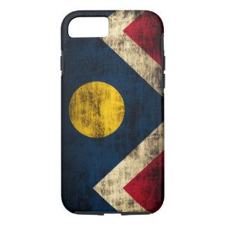 Bandera de Denver Colorado del Grunge del vintage Funda iPhone 7