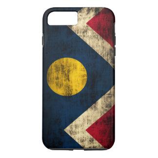 Bandera de Denver Colorado del Grunge del vintage Funda iPhone 7 Plus
