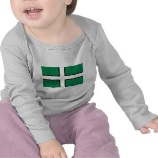 Bandera de Devon Camisetas
