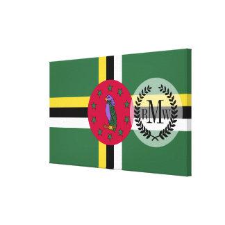 Bandera de Dominica Impresión En Lienzo