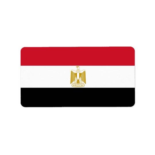 Bandera de Egipto - علممصر - bandera egipcia Etiqueta De Dirección