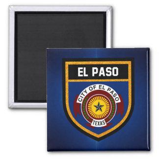 Bandera de El Paso Imán Cuadrado