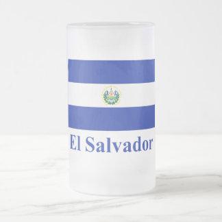 Bandera de El Salvador con nombre Taza De Cristal