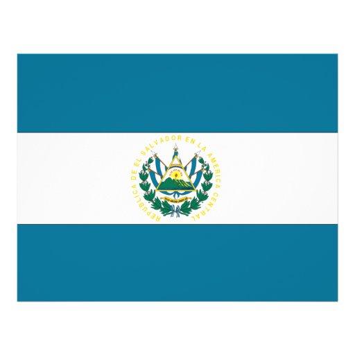 Bandera de El Salvador Flyer Personalizado