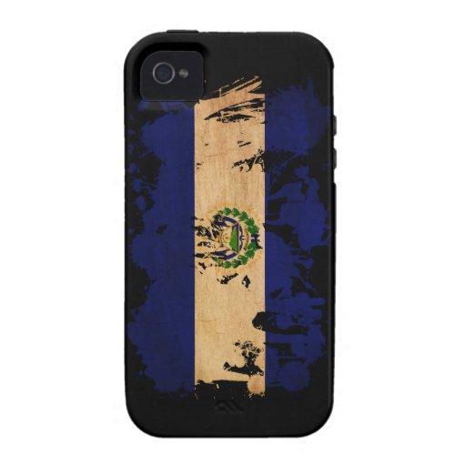 Bandera de El Salvador iPhone 4 Funda