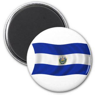 Bandera de El Salvador Imanes Para Frigoríficos