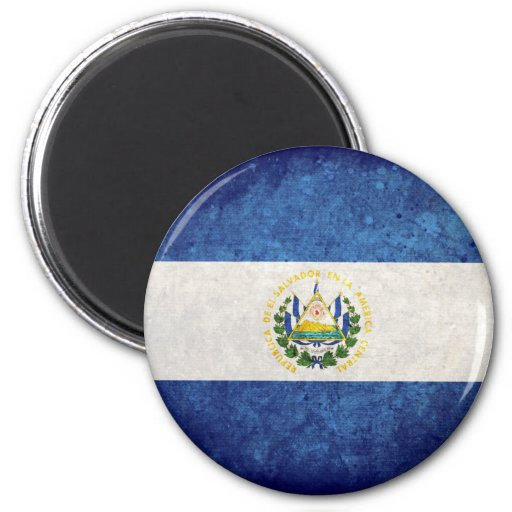 Bandera de El Salvador Imán De Nevera