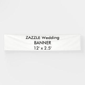 Bandera de encargo 12' del boda x 2,5'