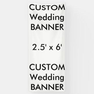 Bandera de encargo 2,5' del boda x 6'