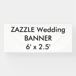 Bandera de encargo 6' del boda x 2,5'