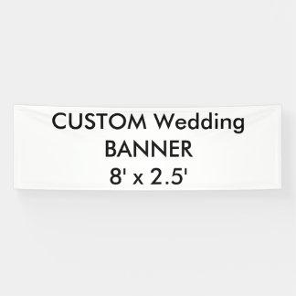 Bandera de encargo 8' del boda x 2,5'