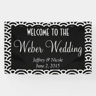 Bandera de encargo personalizada moderna del boda