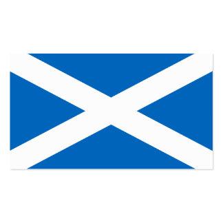 Bandera de Escocia - recuerdo escocés de la Tarjetas De Visita