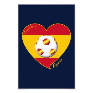 Bandera de ESPAÑA FÚTBOL equipo nacional 2014 Fotografías