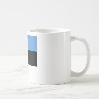 Bandera de Estonia por todo diseño Taza De Café