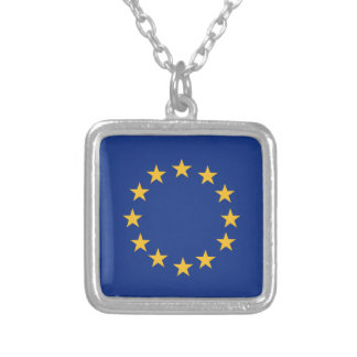 Bandera de Europeanunion Collar Plateado