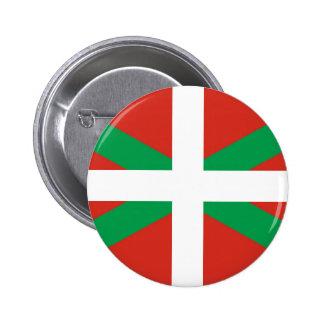 Bandera de Euskadi - país vasco - Ikurri Chapa Redonda De 5 Cm